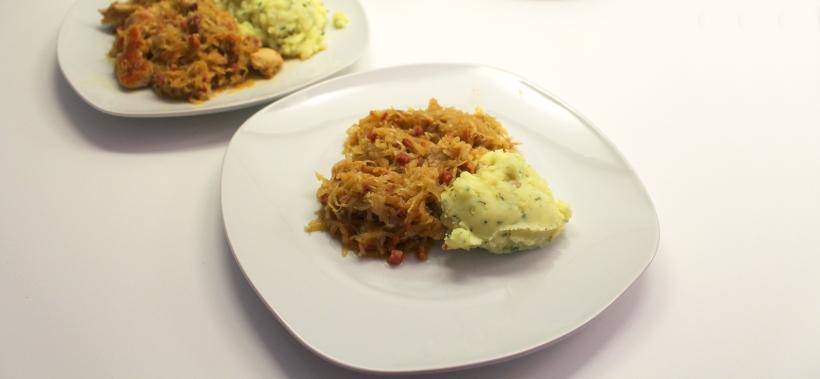 Sauerkraut mit Speck und Pute